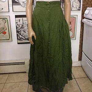 Green Button Down Skirt